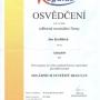Certifikát Regulus 2014